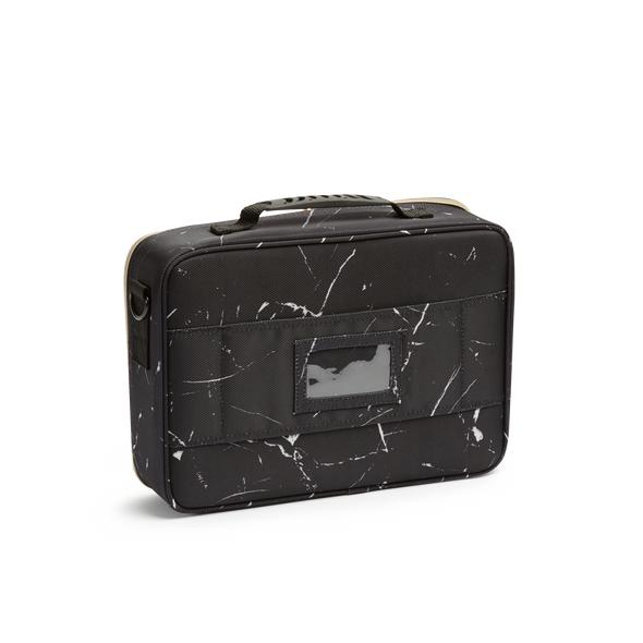 Black Marble Cosmetic Travel Case MED