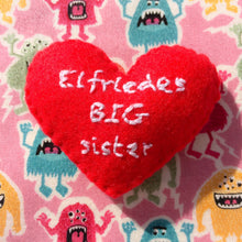 Load image into Gallery viewer, Big sister little sister heart keepsake
