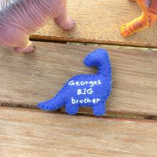 Load image into Gallery viewer, Big brother little brother pocket dinosaur keepsake