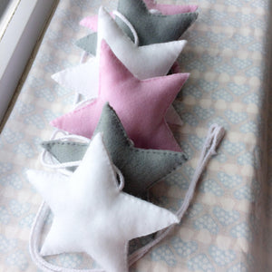 Star banner for nurseries, childrens bedrooms and playrooms | Star garland decoration