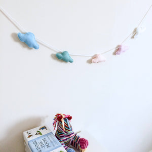 Cloud banner for nurseries and childrens bedroom decoration | Mini cloud garland