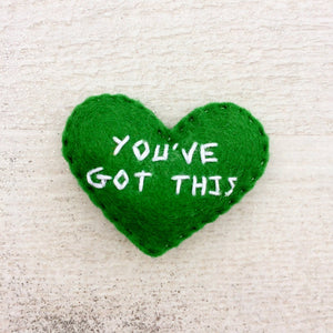 You've got this encouragement heart gift | Custom embroidered small heart