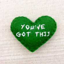 Load image into Gallery viewer, You've got this encouragement heart gift | Custom embroidered small heart