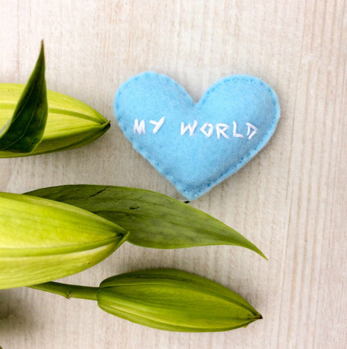 My World custom heart for loved one | Romantic pocket heart