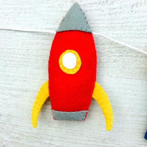 Space name banner for nurseries and childrens rooms | Space themed room decoration