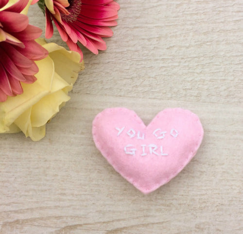 You go girl heart pocket love | Empowering friendship gift