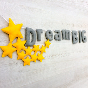 Star dream big wall banner for nurseries and childrens rooms