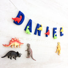 Load image into Gallery viewer, Dinosaur Name Banner for nurseries and Childrens bedrooms | Customised garland
