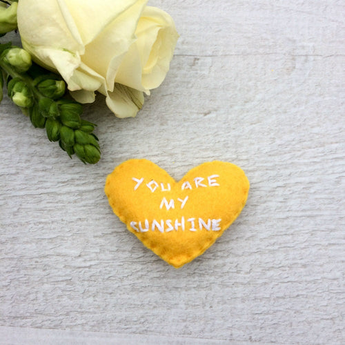 You are my sunshine pocket hearts | love and friendship small gifts