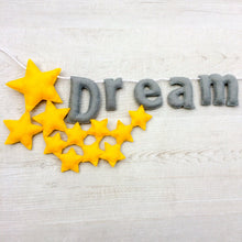 Load image into Gallery viewer, Star dream big wall banner for nurseries and childrens rooms