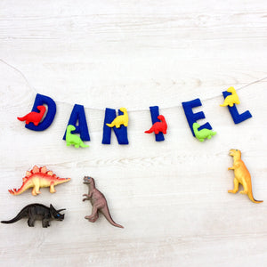 Dinosaur Name Banner for nurseries and Childrens bedrooms | Customised garland