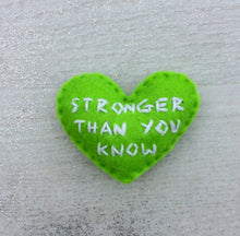 Load image into Gallery viewer, Stronger than you know encouragement  gift | pocket heart friendship gift