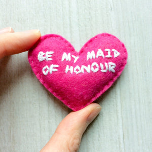 Be my maid of honour small gift | choice of heart colours