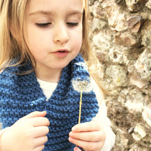 Load image into Gallery viewer, Handmade Childrens knitted scarf in a choice of colours | Christmas kids gift ideas