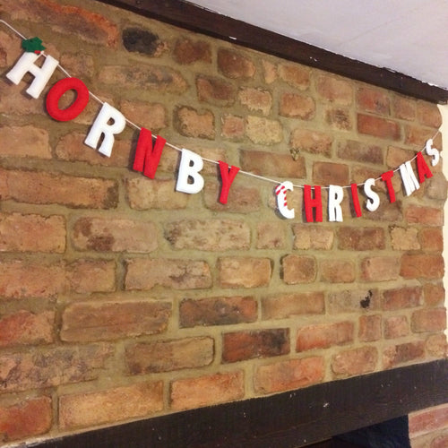 Personalised Family christmas name banner | Customised christmas wall decoration