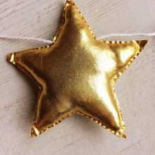 Load image into Gallery viewer, Metallic star name banner | Nursery name bunting