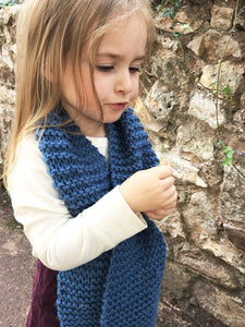 Handmade Childrens knitted scarf in a choice of colours | Christmas kids gift ideas