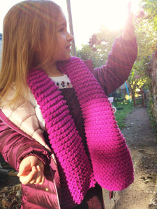Handmade childrens knitted scarves in a choice of colours | Christmas gift ideas