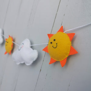 Sunshine and cloud nursery banner
