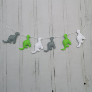 Dinosaur bunting for nurseries and childrens rooms | Customise the colours to suit the room