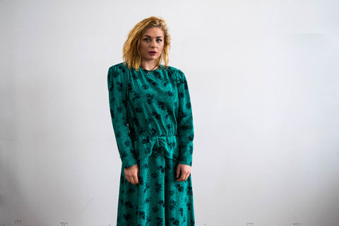 80s Green Maggie Dress