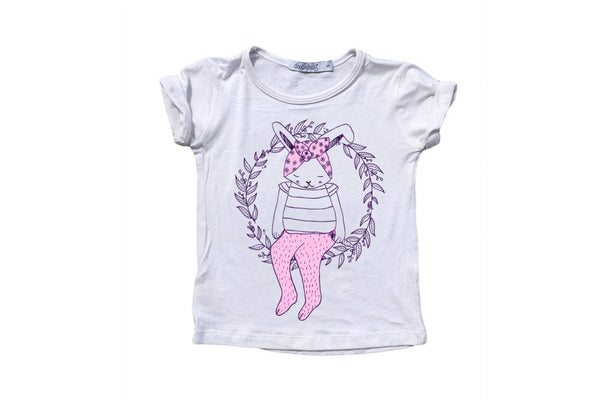"DOODLEBUG Girl Basic Tee - ""Miss Bunny"""