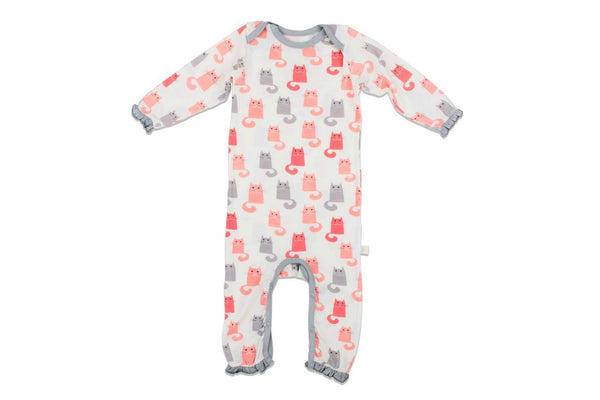 "BESTAROO Baby Coverall - ""Pink Cats"""