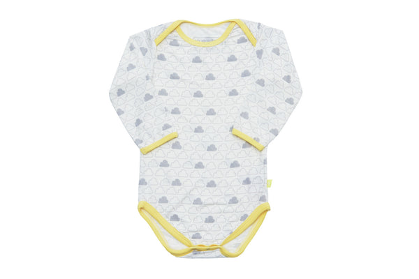 "SNUGALICIOUS Baby Long Sleeve Onesie - ""Cloud"""