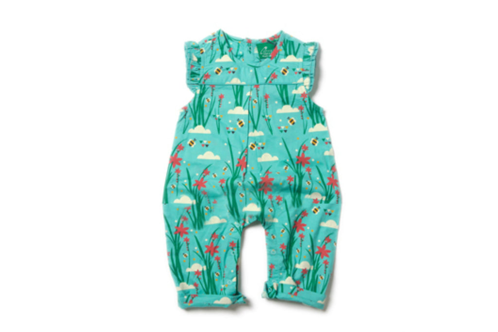 "LITTLE GREEN RADICALS Baby Frill Romper - ""Cornish Copper"""