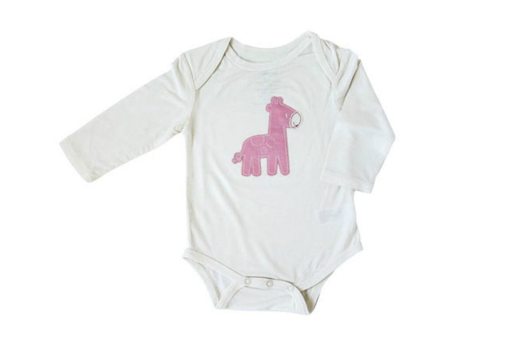 "SILKBERRY Baby Long Sleeve Onesie - ""Giraffe"""