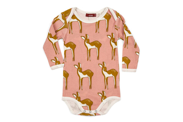 "MILKBARN Baby Long Sleeve Onesie - ""Rose Doe"""