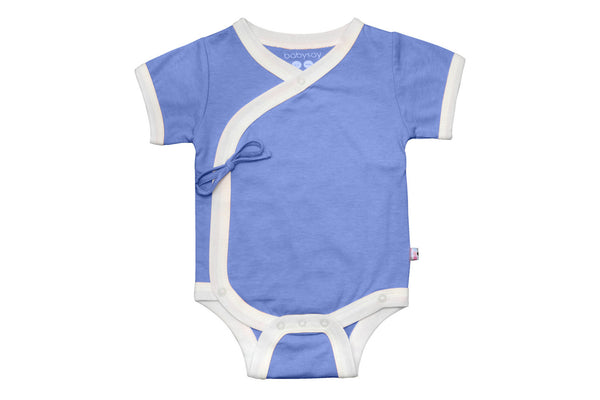 "BABYSOY Baby Short Sleeve Onesie - ""Lake Blue"""