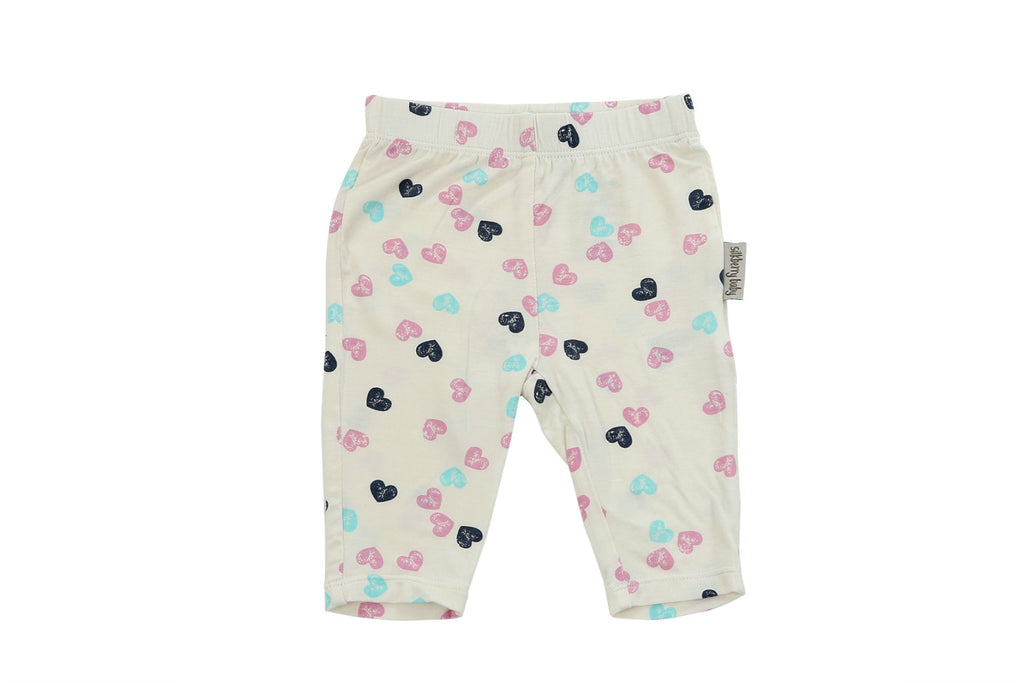 "SILKBERRY Baby Capri Leggings - ""Heart Stamp on Feather"""