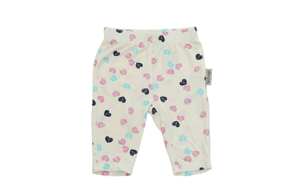 "SILKBERRY Girl Capri Leggings - ""Heart Stamp on Feather"""
