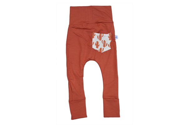 "DOODLEBUG Baby Leggings - ""Rust Cactus Skinnies"""