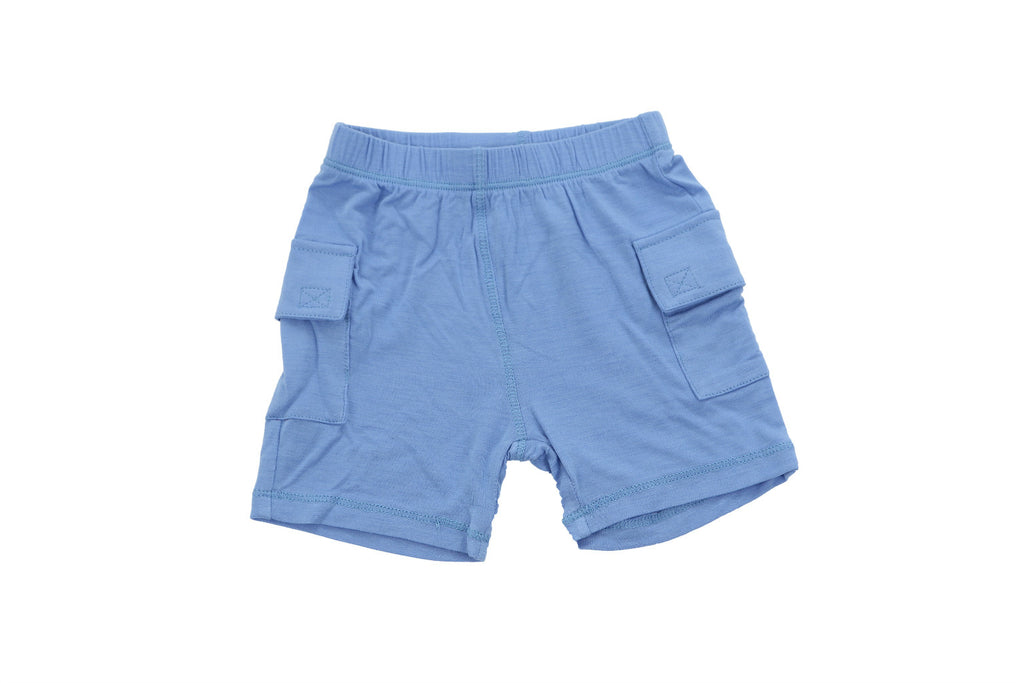 "SILKBERRY Boy Cargo Pocket Shorts - ""Shark Blue"""