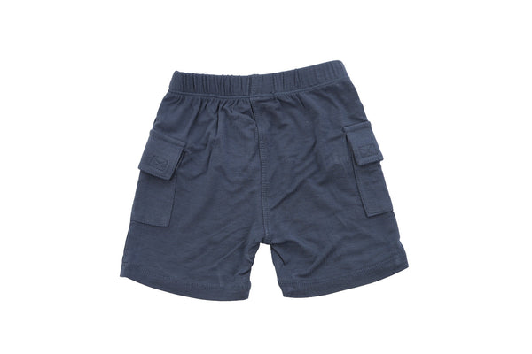 "SILKBERRY Boy Cargo Pocket Shorts - ""Twilight"""