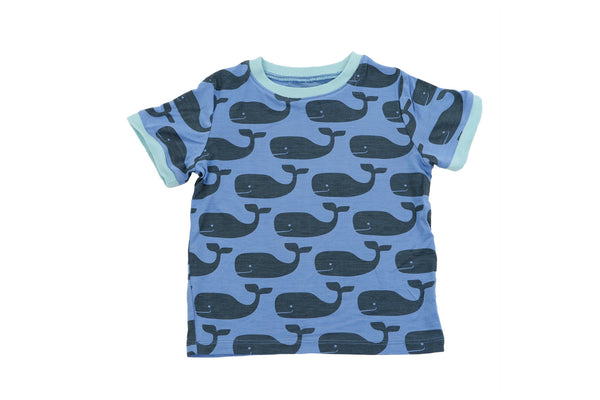 "SILKBERRY Baby Short Sleeve Tee - ""Big Whale"""