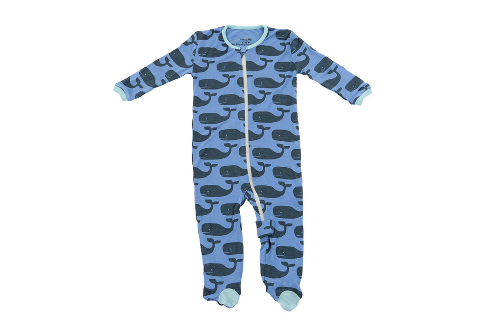 "SILKBERRY Baby Footie - ""Big Whale"""
