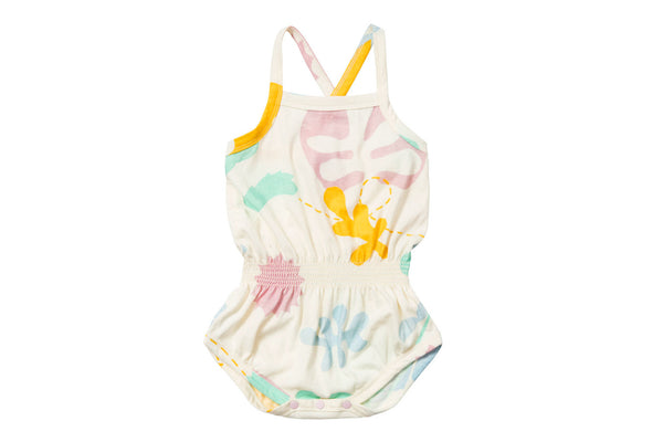 "BAOBAB Baby Dressy Onesie - ""Abstract Garden"""