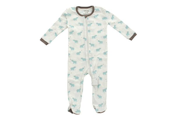 "SILKBERRY Baby Footie - ""Arctic Blue Bear"""