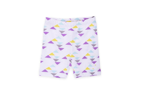 "COLORED ORGANICS Baby Brit Biker Shorts - ""Geo"""