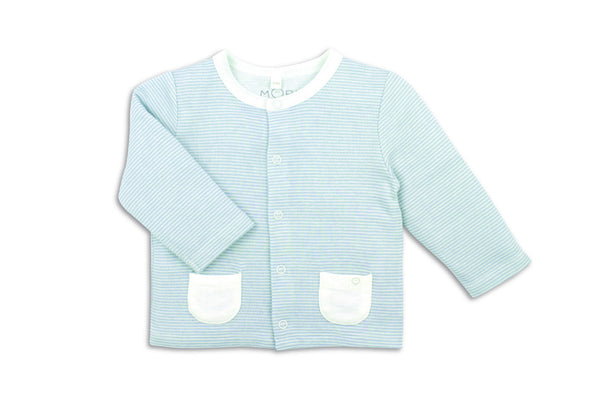 "MORI Baby Cardigan - ""Blue Stripe"""
