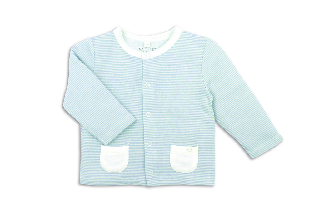 "MORI Boy Cardigan - ""Blue Stripe"""