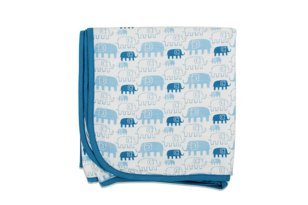 "BESTAROO Blanket - ""Blue Elephants"""