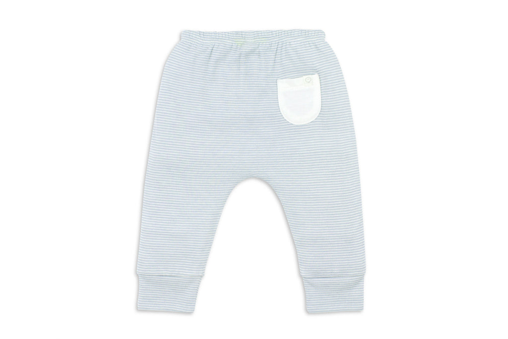 "MORI Baby Yoga Pants - ""Blue Stripe"""