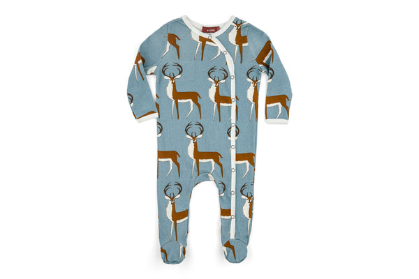 "MILKBARN Baby Footie - ""Blue Buck"""