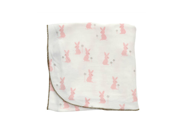 "SILKBERRY Blanket - ""Blush Bunny"""