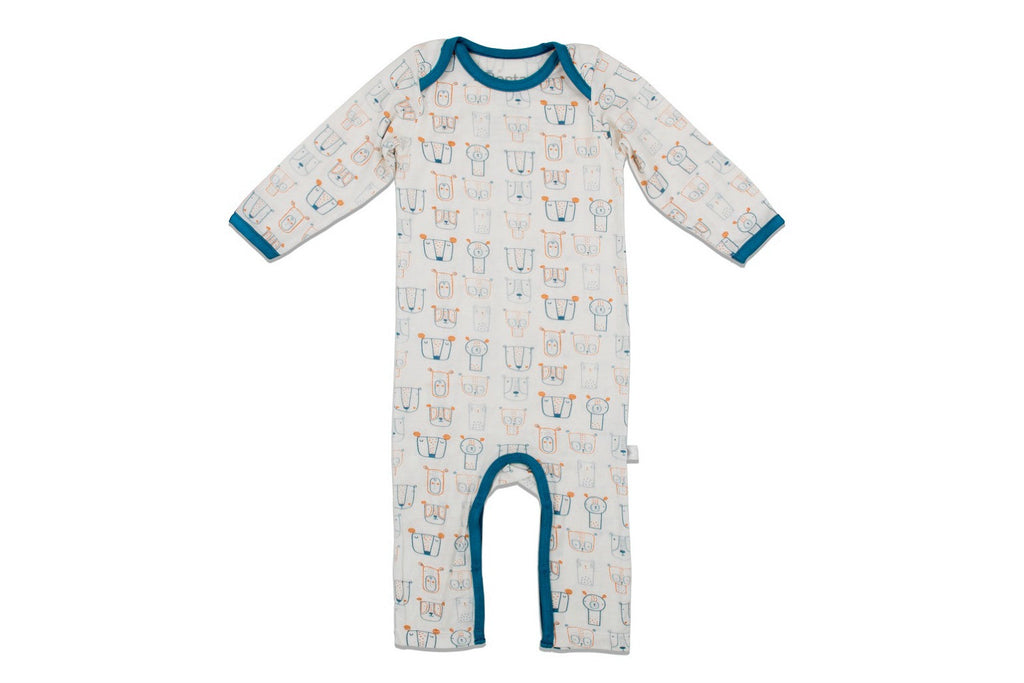 "BESTAROO Baby Coverall - ""Blue Dogs"""