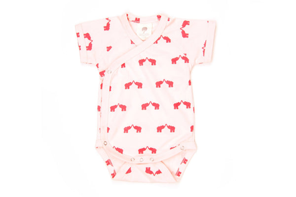 "KATE QUINN Baby Short Sleeve Onesie - ""Elephant"""